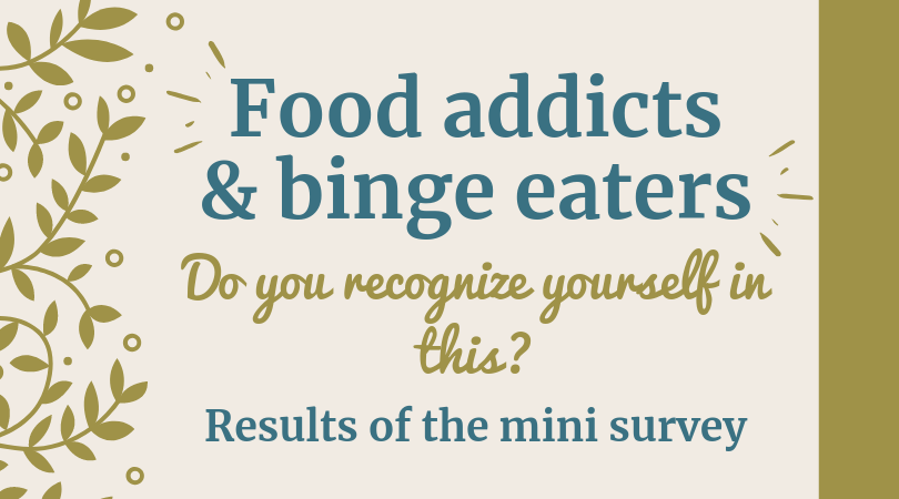 Food addicts & binge-eaters : do you recognize yourself in this? Survey results.